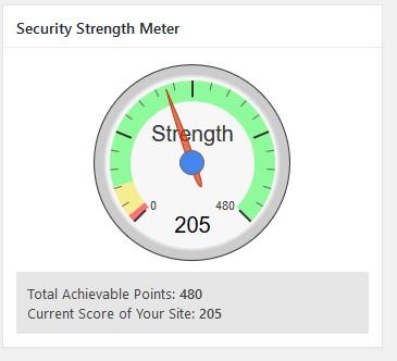 security strenght meter lebih dari 150